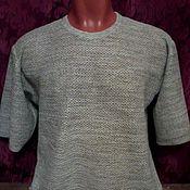 Одежда handmade. Livemaster - original item 100% linen t-shirt for men SCALES. Handmade.