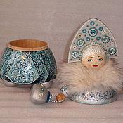 Для дома и интерьера ручной работы. Ярмарка Мастеров - ручная работа Кукла - шкатулка из дерева Снегурочка Модница. Handmade.