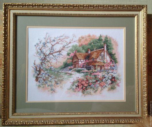Пейзаж ручной работы. Ярмарка Мастеров - ручная работа. Купить Картина Милый дом. Handmade. Комбинированный, дом, уютный дом
