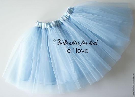 Одежда для девочек, ручной работы. Ярмарка Мастеров - ручная работа. Купить Детская юбка из фатина цвет Барвинок. Handmade. Голубой