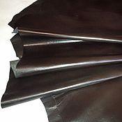 Материалы для творчества ручной работы. Ярмарка Мастеров - ручная работа Галантерейная кожа глянец - темные оттенки. Handmade.
