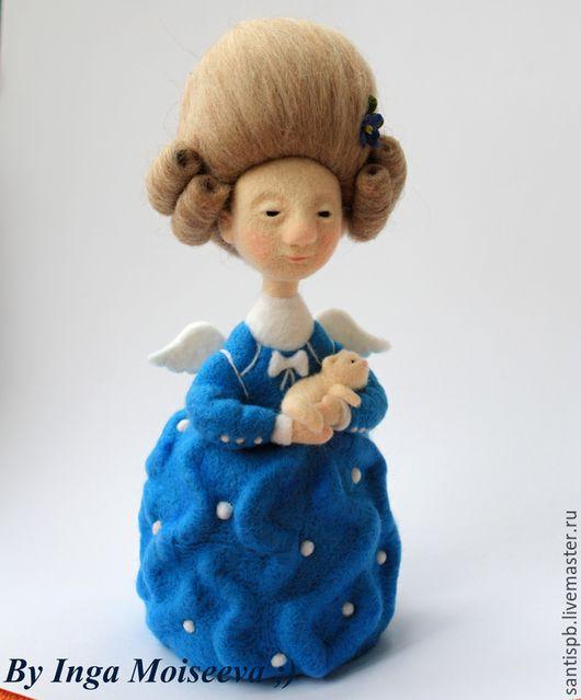 Человечки ручной работы. Ярмарка Мастеров - ручная работа. Купить Кукла войлочная Счастье. Handmade. Синий, кот, гапчинская
