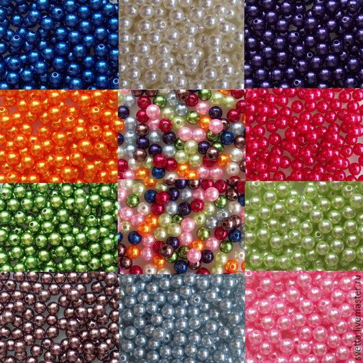 Куклы и игрушки ручной работы. Ярмарка Мастеров - ручная работа. Купить 6 мм. Разноцветные пластиковые бусины. Handmade. Фурнитура