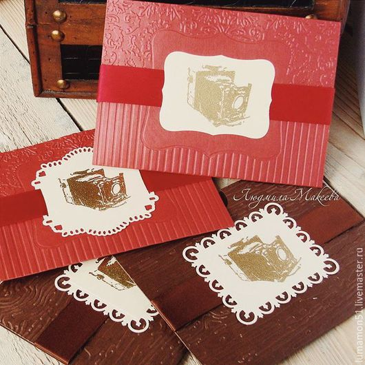 """Подарочная упаковка ручной работы. Ярмарка Мастеров - ручная работа. Купить """" Ретро-стиль"""" дизайнерские конверты для фотографа. Handmade."""