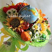 """Цветы и флористика ручной работы. Ярмарка Мастеров - ручная работа Букет из конфет в школу """"Праздник осени"""". Handmade."""