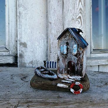 Для дома и интерьера ручной работы. Ярмарка Мастеров - ручная работа Домик у моря 1, Дрифтвуд. Handmade.