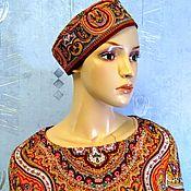 Одежда handmade. Livemaster - original item Tunic dress from Pavlovo-Posad shawls