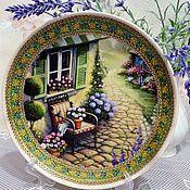 """Посуда ручной работы. Ярмарка Мастеров - ручная работа Тарелка """" Загородный дом"""". Handmade."""