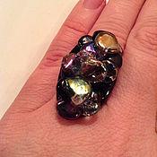 Украшения ручной работы. Ярмарка Мастеров - ручная работа кольцо черный перламутр. Handmade.