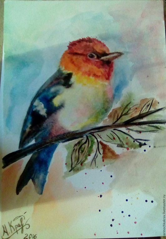 Животные ручной работы. Ярмарка Мастеров - ручная работа. Купить птица осени и голубые просторы. Handmade. Комбинированный, море, осень