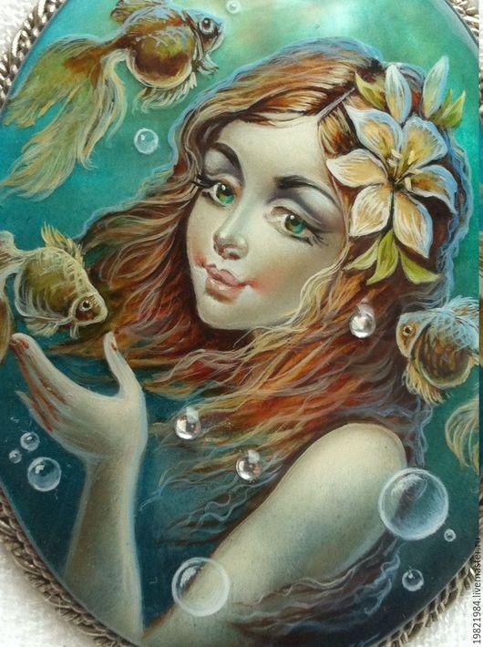 Кулоны, подвески ручной работы. Ярмарка Мастеров - ручная работа. Купить На глубине морской.... Handmade. Тёмно-бирюзовый, мельхиор
