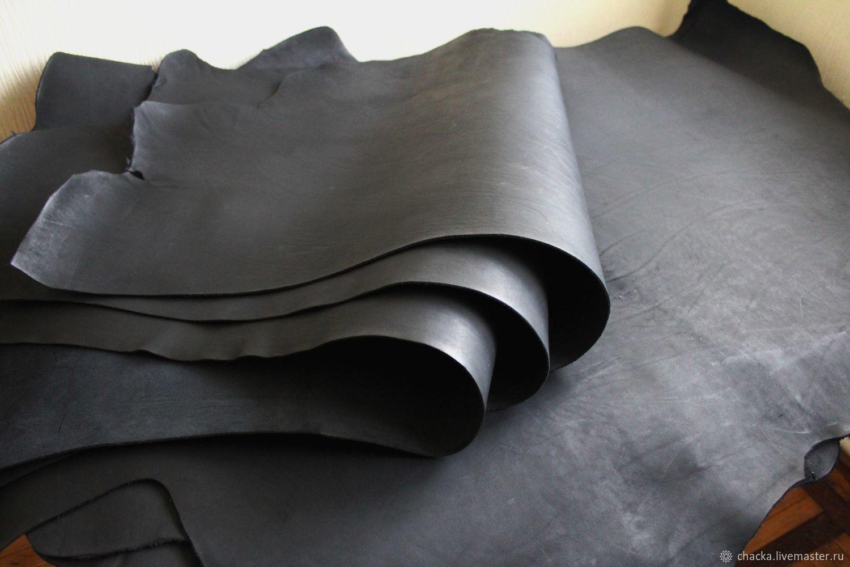 Шитье ручной работы. Ярмарка Мастеров - ручная работа. Купить Шорно-седельная кожа Черный 2.3-2.5мм. Handmade.