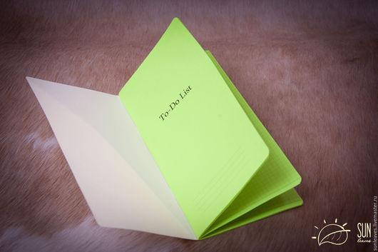 Записные книжки ручной работы. Ярмарка Мастеров - ручная работа. Купить ToDo List cменный блокнот для Midori Traveler's Journal цветной. Handmade.