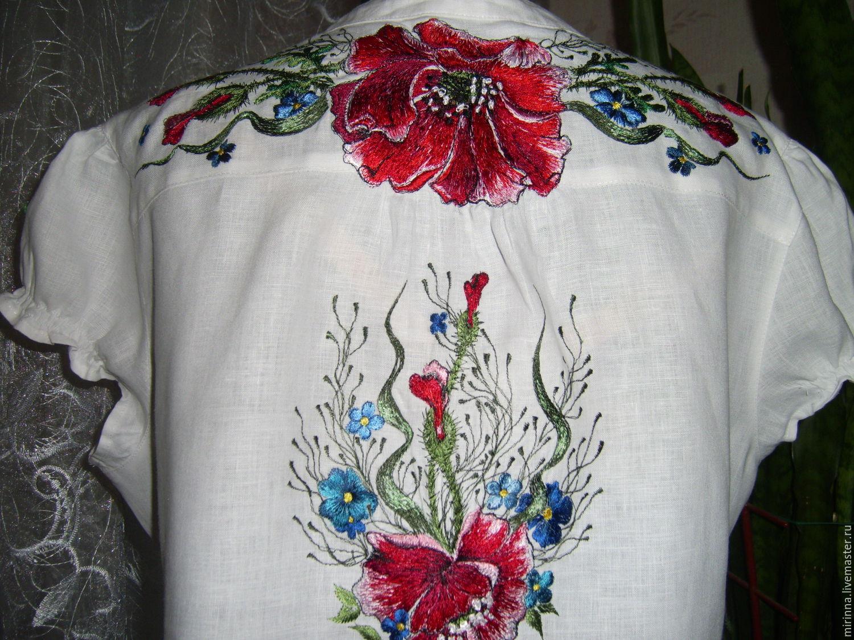 Ручная вышивка на кофте