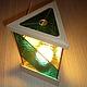 Освещение ручной работы. Ярмарка Мастеров - ручная работа. Купить Настольный ночник декоративный светильник витражный Треуголка подарок. Handmade.