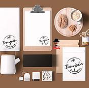 Дизайн и реклама ручной работы. Ярмарка Мастеров - ручная работа Логотип и фирменный стиль для кофейни. Handmade.