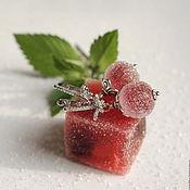 """Украшения ручной работы. Ярмарка Мастеров - ручная работа """"Вишня в сахаре"""" серьги лэмпворк. Handmade."""