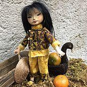Куклы и игрушки ручной работы. Ярмарка Мастеров - ручная работа КиуЮ. Деревянная кукла в смешанной технике.. Handmade.