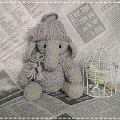 Куклы и игрушки ручной работы. Ярмарка Мастеров - ручная работа слоник Волька. Handmade.