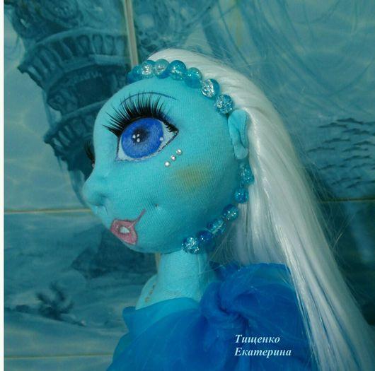 Коллекционные куклы ручной работы. Ярмарка Мастеров - ручная работа. Купить Лазурная текстильная интерьерная куколка. Handmade. море