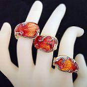 Украшения handmade. Livemaster - original item Ring handmade with 999 silver. Fiery tales. Handmade.