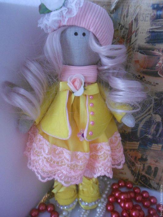 Куклы тыквоголовки ручной работы. Ярмарка Мастеров - ручная работа. Купить Кукла Роза. Handmade. Бледно-розовый, большеножка, тыквоголовка