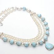 Necklace handmade. Livemaster - original item Necklace with larimar