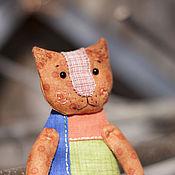 Куклы и игрушки ручной работы. Ярмарка Мастеров - ручная работа Кукла текстильная Котейка кармашковая. Handmade.