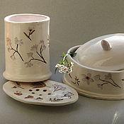 """Для дома и интерьера ручной работы. Ярмарка Мастеров - ручная работа Набор для ванной """"Липовый цвет"""", керамика. Handmade."""