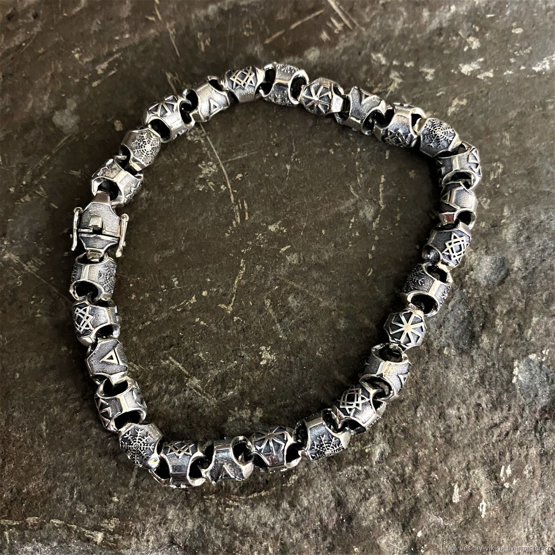 Round bracelet with protective symbols, Hard bracelet, Sochi,  Фото №1