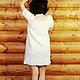 """Платья ручной работы. Вязанное платье с коротким рукавом """"Берёмушка"""". OLGA'Z. Ярмарка Мастеров. Белое платье, альпака"""