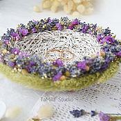 """Свадебный салон ручной работы. Ярмарка Мастеров - ручная работа Гнездышко тарелочка для колец """" Lavender Garden """". Handmade."""