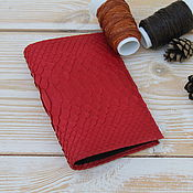 Канцелярские товары handmade. Livemaster - original item Passport cover made from Python IMP0077R. Handmade.