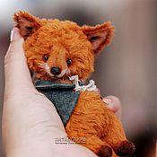 Куклы и игрушки ручной работы. Ярмарка Мастеров - ручная работа Лисенок Ник. Nik fox pup тедди лис. Handmade.