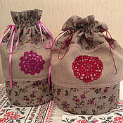 Для дома и интерьера ручной работы. Ярмарка Мастеров - ручная работа Мешок для хлеба или кулича. Handmade.