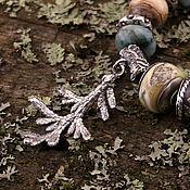 """Украшения ручной работы. Ярмарка Мастеров - ручная работа """"Туя"""" серебряная бусина-подвеска для браслетов. Handmade."""