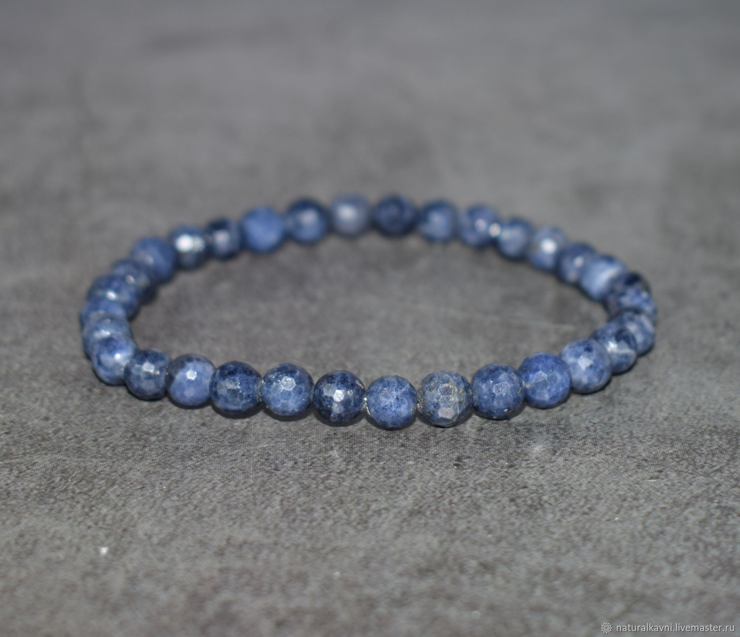Natural sapphire bracelet with cut, Bead bracelet, Moscow,  Фото №1