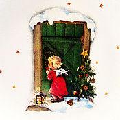 """Подарки к праздникам ручной работы. Ярмарка Мастеров - ручная работа Тарелка настенная """"Откройте счастью двери!"""". Handmade."""