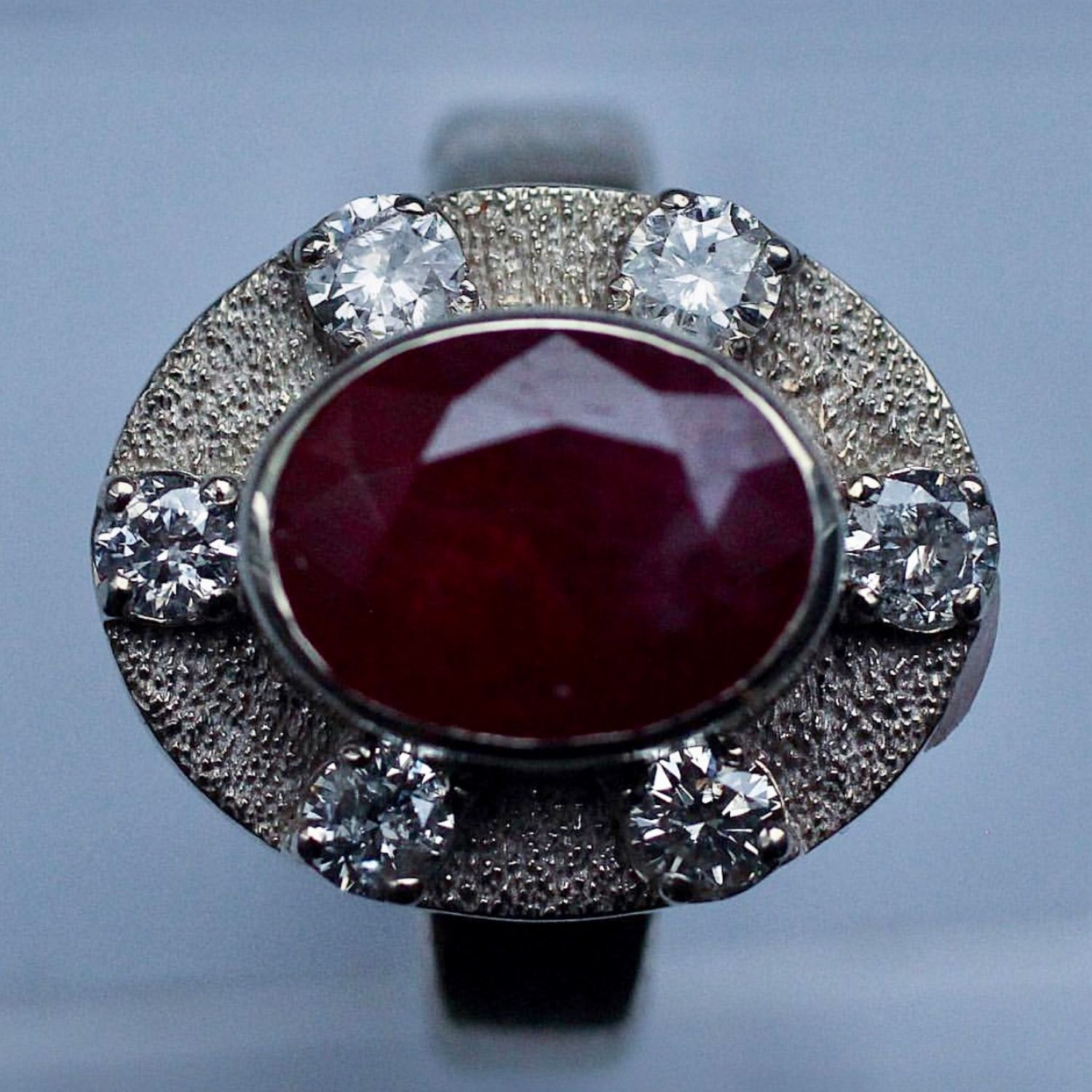 'Vienna' ring with ruby and diamonds, Rings, Moscow,  Фото №1