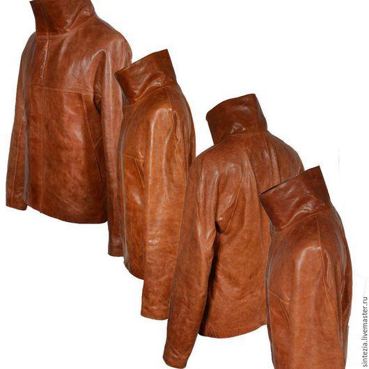 Верхняя одежда ручной работы. Ярмарка Мастеров - ручная работа. Купить Куртка кожаная #polygon. Handmade. Кожаная куртка