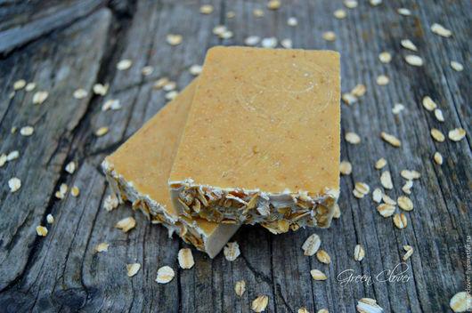 Мыло ручной работы. Ярмарка Мастеров - ручная работа. Купить Овсяное мыло-скраб с медом. Handmade. Комбинированный, овсяное мыло