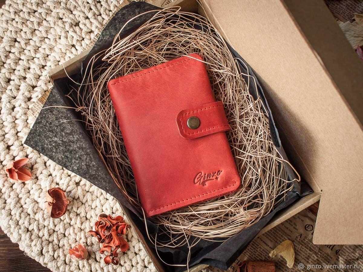 Женская обложка для автодокументов и паспорта FORTUNA цвет Красный, Обложка на паспорт, Тула,  Фото №1
