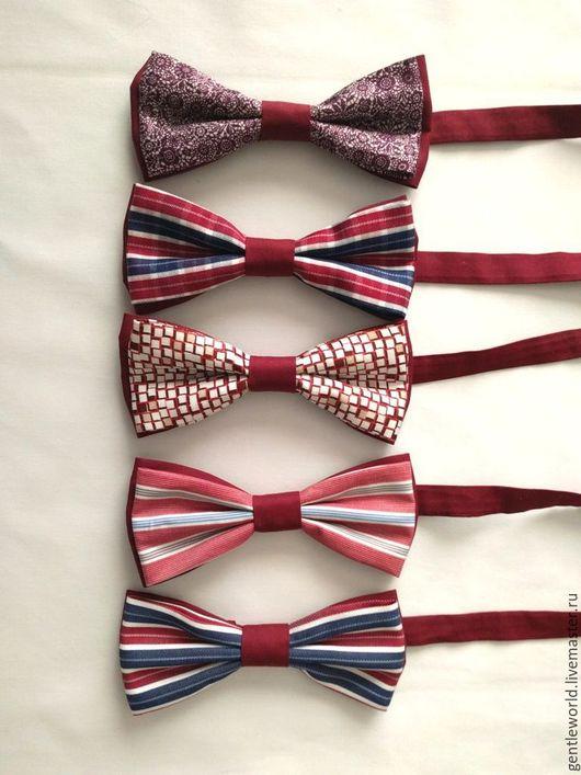 """Галстуки, бабочки ручной работы. Ярмарка Мастеров - ручная работа. Купить галстук-бабочка """"Мой Лондон"""". Handmade. Синий, мальчишник"""