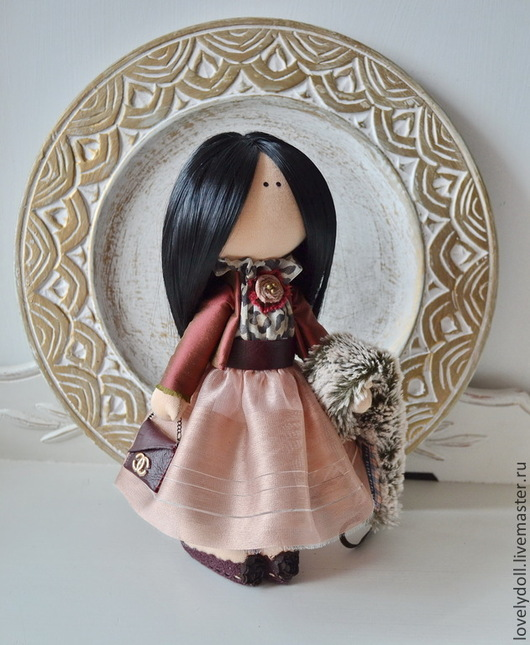 Коллекционные куклы ручной работы. Ярмарка Мастеров - ручная работа. Купить Анна. Handmade. Бордовый, сувениры и подарки, подарок на новый год