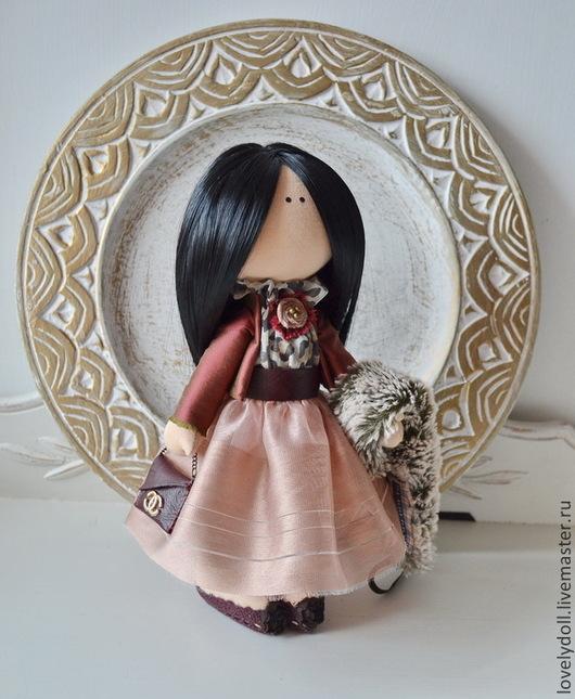 Коллекционные куклы ручной работы. Ярмарка Мастеров - ручная работа. Купить Анна. Handmade. Бордовый, сувениры и подарки
