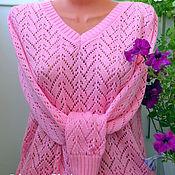 Одежда ручной работы. Ярмарка Мастеров - ручная работа Пуловер ажурный вязаный.. Handmade.
