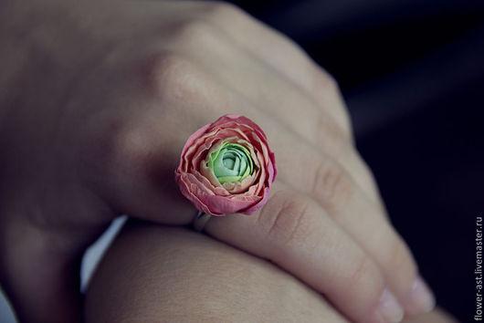 """Кольца ручной работы. Ярмарка Мастеров - ручная работа. Купить Кольцо """"Ранункулюс"""". Handmade. Разноцветный, полимерная глина, украшения, handmade"""