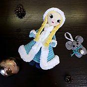 Мягкие игрушки ручной работы. Ярмарка Мастеров - ручная работа Снегурочка. Handmade.