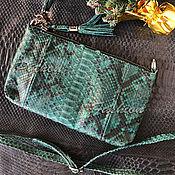 Сумки и аксессуары handmade. Livemaster - original item Handbag made of Python - IN STOCK. Handmade.