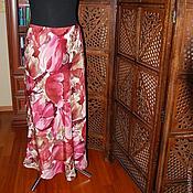 Одежда ручной работы. Ярмарка Мастеров - ручная работа Юбка длинная, натуральные ткани. Handmade.